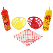 Bbq Barbecue Serving Baskets Camping Travel Outdoor Picnic Condiment Diner Set