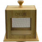 2 Shelves Large Hevea Wooden Cheese Carousel Kitchen Storage Keeper Container