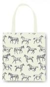 E2e Horse Design Cotton Tote Bag Shopping Shopper Shoulder Kitchen Storage Bag