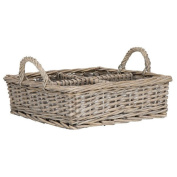 Willow Basket W/4 Room And Handles Danish Design By Ib Laursen