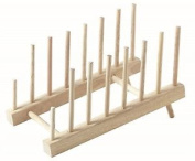 Stow Green Wooden Plate Holder Tilting Display Rack. Delivery Is Free