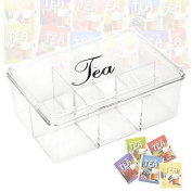 6 Section Acrylic Tea Box