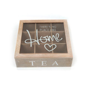 Ardisle Wooden Tea Box Vintage Shabby Chic Compartment Chest Storage Caddy Lid