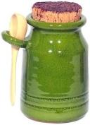 Amazing Cookware Terracotta Salt Pot And Ladle - Green