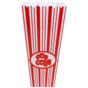 Red White Stripes Reusable Plastic Popcorn Holder Container Movie Cinema Film