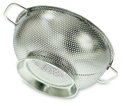 PriorityChef Colander, Stainless Steel Kitchen Strainer With Fine Mesh, 26cm wide, 3 litre Capacity
