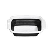 Premier Housewares Zing Colander, Collapsible, Black/white
