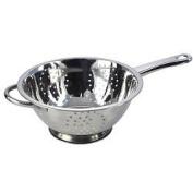 Stainless Steel Collection Polished Deep Long Handled Colander