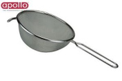 Apollo Stainless Steel Strainer Tin 20cm Silver Tea Coffee Kitchen Accessory New
