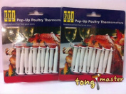 20 X Disposable Pop Up Timer/thermome