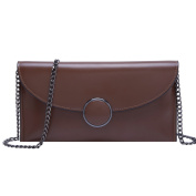 BOYATU Genuine Leather Wallet for Women Chain Strap Shoulder Purse Fashion Ladies Clutch Bag