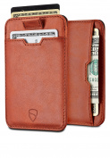 Chelsea Slim Card Sleeve Wallet with RFID Protection by Vaultskin – Top Quality Italian Leather - Ultra Thin Card Holder Design For Up To 12 Cards