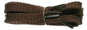 TZ Laces® Branded Flat 6mm Brown shoelaces 3 pair pack