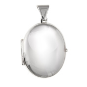13MM Wide SMALL Plain Oval Locket - 925 Sterling Silver - Supplied in Free Gift Box or Gift Bag