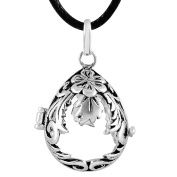Eudora Harmony Ball Locket Pendant for Women Perfume Cage Sterling Silver Chime Bell