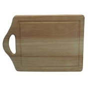 Kitchen Rubberwood Handled Butchers Slicing Cutting Chopping Board Worktop Saver