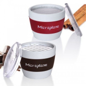 Microplane Handheld Cup Graters, Spices (red) Or Chocolate