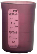 Ibili Silicone Flexible Measuring Cup, Purple, 500 Ml