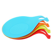 Meeaja 100% Food Grade Kitchen Soup Use Silicone Spoon Rest, Large Soup Spoon