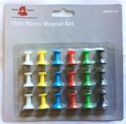 18 Memo Notice White Board Fridge Coloured Magnets