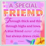 A Special Friend Sentimental Fridge Magnet - Christmas, Birthday