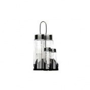 Generique Bf-5304 Tray With Vinegar - And Oil, Salt And Pepper Shakers, Steel