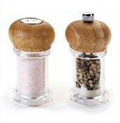 Metaltex Salt And Pepper Set, Transparent/be