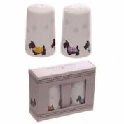 Porcelain Salt And Pepper Set - Cute Scottie Dogs Design