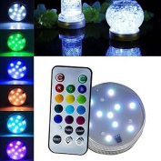 Bodhi2000 Submersible LED Lights with Remote Control, RGB Multi Colour Changing Waterproof Light for Vase Base, Floral, Aquarium, Pond, Wedding, Halloween, Party, Christmas, Submersible Lights