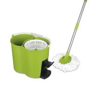 CLEANmaxx 09746 Power Turbo Spinning Mop, Lime Green
