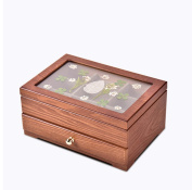 SHKY Jewellery Box 1/2/3Layers with 0/1/2Drawers ,Plant specimen decoration Jewellery Storage Box Container Case.Gift for Christmas or Birthday for girls or women