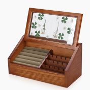 SHKY Wooden Small Jewellery Box Plant specimen decoration, Beautiful Intrinsic Design Decorative Jewellery Box Wooden Case.Gift for Christmas or Birthday