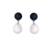Anderson & Webb Freshwater Cultured White Pearl and Onyx Drop Earrings