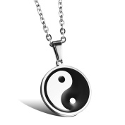 OBSEDE Men's Titanium Steel Necklace With Pendant Yinyang Amulet Lucky Necklace Male Jewellery