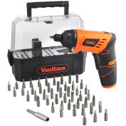 Vonhaus Cordless 3.6v Lithium-ion Led Light Screwdriver With Twistable Handle &