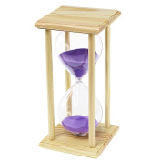 Kkwell 60 Minute Purple Sand Classical Wood Frame Hourglass, Learning & Playing