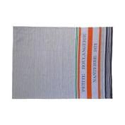 French Striped Orange Grey Beige 100% Cotton Kitchen Tea Towel 45cm X 70cm