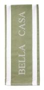 Ladelle Single Bella Casa Sage Green White Tea Towel Kitchen Drying Cloth New