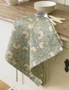 William Morris Pimpernel Green Cotton Floral Tea Towel
