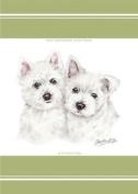 Evans Lichfield Puppy Westie West Highland Terrier Dogs 100% Cotton Tea Towel