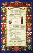 Uk Royal Lineage Family Tea Towels Kitchen Cotton Kings Queens Vintage Drying