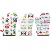 Single Padded Cotton Insulated Kitchen Oven Cooking Baking Gloves Mitts Mittens
