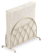 Ambiente Lattice Upright Napkin Serviette Holder Rack Storage Cream Dining