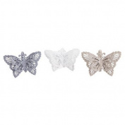 Single Metal Butterfly Shaped Napkin Rings / Holder - Choice Of Colours