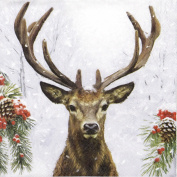 20x Luxury Table Lunch Party Paper Napkins - Deer In Winter-