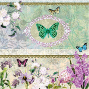 20 Ambiente 3 Ply Paper Napkins Serviette Butterfly Medalion Lunch Party Vintage