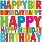 20 Ambiente 3 Ply Paper Napkins Serviettes Happy Birthday Party Adult Children