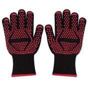 Bbq Gloves, Richoose 2pcs Gloves 932°f Extreme Heat Resistant Gloves Bbq Gloves