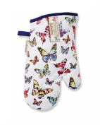 Single Gauntlet Oven Glove By Cooksmart & Inspirational Magnet Butterfly