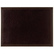 Faux Leather Large Placemat 400x300mm Brown Table Coasters Restaurant